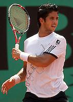 Fernando Verdasco (ESP) (8) against Florent Serra (FRA) in the first round of the Men's Singles. Verdasco beat Serra 6-2 6-1 6-4..Tennis - French Open - Day 1 - Sun 24th May 2009 - Roland Garros - Paris - France.Frey Images, Barry House, 20-22 Worple Road, London, SW19 4DH.Tel - +44 20 8947 0100.Cell - +44 7843 383 012