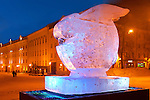 Ice Euro Rabbit Monument  in Town Hall Square, Tartu, Estonia