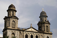 Ruins of the Old Cathedral on Plaza de la Republica in downtown Managua, Nicaragua