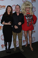 HOLLYWOOD, CA - OCTOBER 18: Fred Schneider, Cassandra Peterson, Lady Bunny attends the launch party for Cassandra Peterson's new book 'Elvira, Mistress Of The Dark' at the Hollywood Roosevelt Hotel on October 18, 2016 in Hollywood, California. (Credit: Parisa Afsahi/MediaPunch).