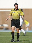 2 September 2007: Referee Mark Kadlecik. The Wake Forest University Demon Deacons defeated the Monmouth University Hawks 2-0 at Fetzer Field in Chapel Hill, North Carolina in an NCAA Division I Men's Soccer game.