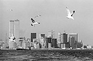 Early 1970s --- Lower Manhattan Skyline --- Image by © JP Laffont