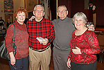 Naugatuck, CT-0218MK10 (from left) Donna Cleary Jack and Jim Fenton with Marty-Lee Fenton gathered Saturday night during Savor CT, a tasting, hosted by the Naugatuck Historical Society at the Portuguese Club.  Wendy Murphy, chairperson for the gathering, said that this was the sixth year in a row the event featuring beer, wine, soda and foods made in Connecticut.  Attendees explored the flavors from around the state and were able to sample everything from huge brand names like Newman's Own to more local options like Fascia's Chocolates. The annual occasion showcased the best Connecticut food and beverages has to offer. Murphy stated that she expected over 200 people to participate and the proceeds will benefit future historical exhibits the the Tuttle House. Michael Kabelka / Republican-American