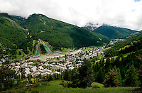 Impressions of the ski resort Pragelato in the upper Chisone valley in the Piedmont region (Italy, 16/06/2010)