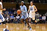 24 January 2016: North Carolina's Destinee Walker. The Duke University Blue Devils hosted the University of North Carolina Tar Heels at Cameron Indoor Stadium in Durham, North Carolina in a 2015-16 NCAA Division I Women's Basketball game. Duke won the game 71-55.