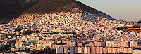 Town of Tetouan in the Rif Mountains of Northern Morocco. Tetouan was of particular importance in the Islamic period from the 8th century, when it served as the main point of contact between Morocco and Andalusia. After the Reconquest, the town was rebuilt by Andalusian refugees who had been expelled by the Spanish. The medina of Tetouan dates to the 16th century and was declared a UNESCO World Heritage Site in 1997. Picture by Manuel Cohen