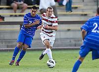 STANFORD, CA - September 12, 2012: Stanford vs San Jose St. men's soccer match in Stanford, California. Final score, Stanford 2, San Jose St. 1 in overtime.
