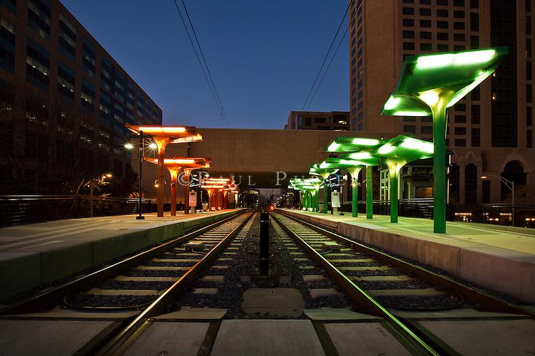Charlotte Light Rail Line In Uptown Charlotte NC | Photo Charlotte