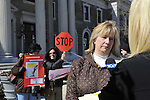 """We the People Save our Waters Coalition"" holds rally to stop the long-term lease of our Sewage Treatment Plants. At Nassau County Legislative Building, Mineola, New York, February 27, 2012. © 2012 Ann Parry, Ann-Parry.com"