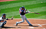 6 September 2009: Minnesota Twins' shortstop Orlando Cabrera in action against the Cleveland Indians at Progressive Field in Cleveland, Ohio. The Indians defeated the Twins 3-1 to take the rubber match of their three-game weekend series. Mandatory Credit: Ed Wolfstein Photo