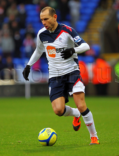28.01.2012 Bolton England.  Bolton Bulgarian Midfielder Martin Petrov  In action during the Budweiser FA Cup Match between Bolton Wanderers and Swansea City, played at the Reebok Stadium.