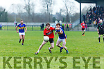 Tarbert's Andrew Doherty and St. Senans Shane Enright  in the The Bernard O'Callaghan Memorial Senior Football Championship 2016 Semi Final  at Frank Sheehy Park, Listowel on Sunday