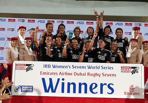 01.12.2012. Dubai, United Arab Emirates.  New Zealand Womens Sevens HSBC World Sevens Series -IRB winners of the Dubai Sevens 2012