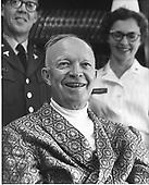 Washington, D.C. - November 23, 1965 -- Former United States President Dwight D. Eisenhower arrives back in Washington, DC for transfer to Walter Reed Army Medical Center for treatment after a mild heart attack on November 23, 1965..Credit: Benjamin E. Forte / CNP