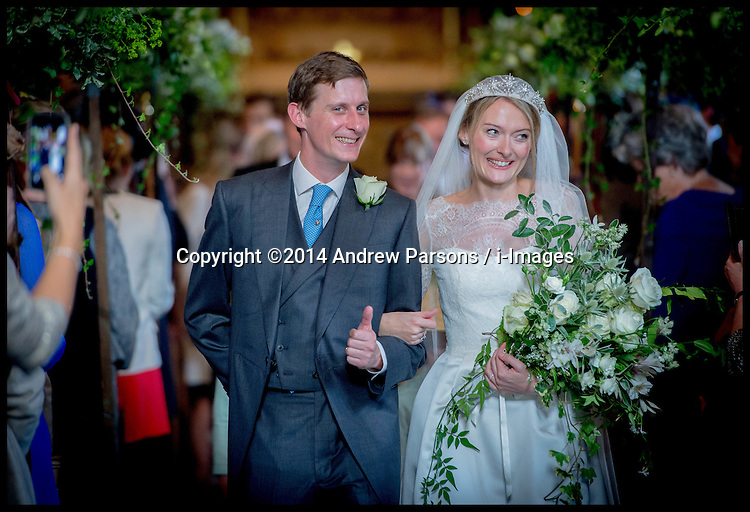©Licensed to i-Images Picture Agency. 13/09/2014. London, United Kingdom. Jake and Victoria's wedding.Picture by Andrew Parsons / i-Images