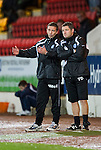 St Johnstone v Celtic..27.10.10  .Derek McInnes and Tony Docherty.Picture by Graeme Hart..Copyright Perthshire Picture Agency.Tel: 01738 623350  Mobile: 07990 594431