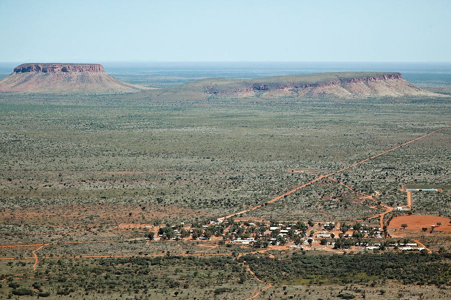 Aerial view of remote Aboriginal community  Nyrripi. lies 250km West of Alice Springs.