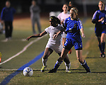Oxford High's Michelle Reid (23) vs. Saltillo in girls high school soccer in Oxford, Miss. on Friday, December 14, 2012.