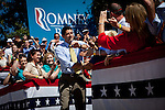 Republican vice presidential candidate Rep. Paul Ryan arrives at a campaign rally in Ocala, Florida, October 18, 2012.