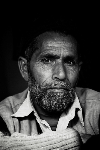 A man in north Kashmir