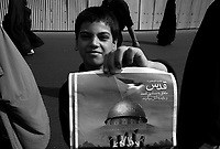 """Teheran, Iran, October 5, 2007.After the Friday prayer at Teheran University on """"Quds"""" (Jerusalem) Day. The late Ayatollah Khomeini, guide of the Islamic revolution, had decreed that the last Friday of the Ramadan would be commemorating the Neqbah."""