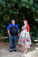 Dan Smith and Rebecca Brennen are pictured at The 2012 Historic Houses Trust of NSW annual Fifties Fair at Rose Seidler House, Sydney. Picture James Horan