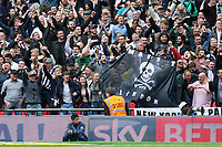 Millwall fans celebrate Steve Morison's opening goal during Bradford City vs Millwall, Sky Bet EFL League 1 Play-Off Final at Wembley Stadium on 20th May 2017
