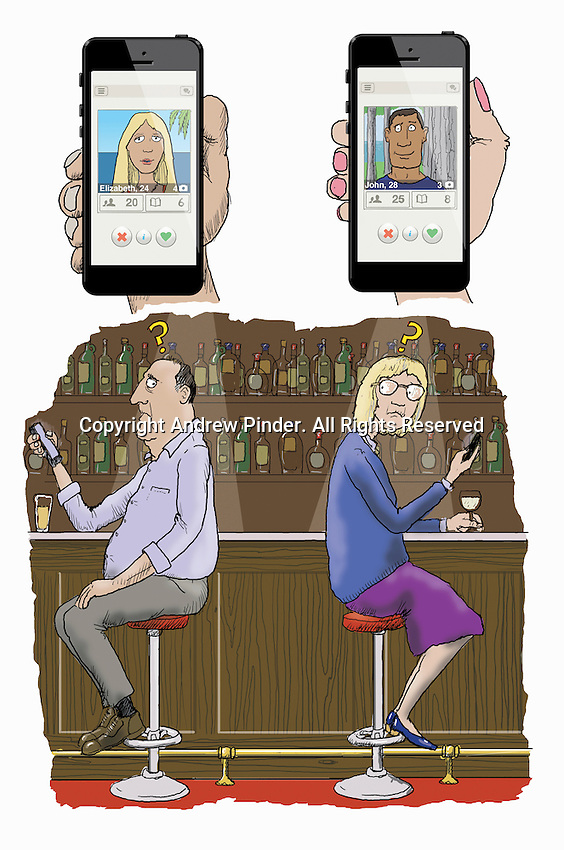 Older man and woman lying about age when online dating