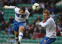 Italy U21 Alessandro Florenzi scores the first goal of the night