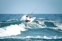 The last leg of the 2010 PKRA World Kiteboarding Tour has come to the Gold Coast, Australia - Stuey Martin  from Australia in a late afternoon round of the Mens Wave event.