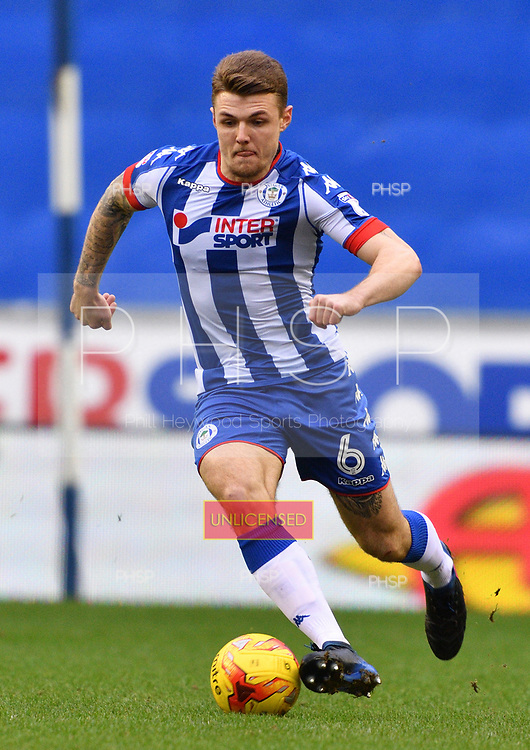 25/02/2017 Sky Bet Championship Wigan Athletic v Nottingham Forest<br /> <br /> Max Power, Wigan Athletic FC