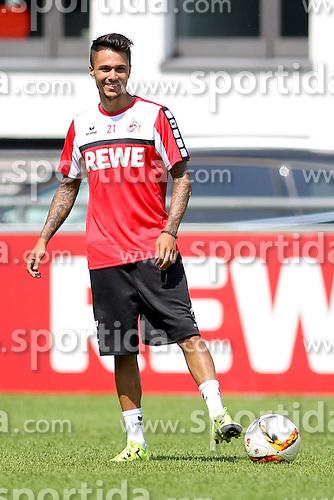 16.07.2015, Geissbockheim, Koeln, GER, 1. FBL, 1. FC Koeln, Training, im Bild Neuzugang Leonardo Bittencourt (1. FC Koeln #21) // during a practice session of German Bundesliga Club 1. FC Cologne at the Geissbockheim in Koeln, Germany on 2015/07/16. EXPA Pictures &copy; 2015, PhotoCredit: EXPA/ Eibner-Pressefoto/ Schueler<br /> <br /> *****ATTENTION - OUT of GER*****