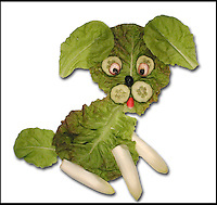 "BNPS.co.uk (01202 558833).Pic: DanielRicon/BNPS..***Please Use Full Byline***..Puppy...Leonardo Da Veggie!..An artist has transformed humble salad ingredients into works of art in a bid to encourage children to eat their greens...Daniel Ricon bought bags of lettuce, tomatoes, carrot, and cucumber and began layering them on a plate to make the healthy snacks seem more exciting...He created impressive pictures of animals including a cucumber crocodile, and a runner bean lion...Daniel also made a cat, duck, crab, owl, lion, rabbit, penguin, fish, cock, and even a martian...After completing each plate he took a picture and posted it to his website to document his wacky artwork...Daniel, 60, a visual artist from Paris in France, said: ""I have used flowers, leaves, stones, shells, hands, sweets and cakes in my work and it resulted in me working with vegetables...""Working with vegetables is to present a fun way to eat food to children and invite them to try unusual things...""The goal is to make a dish salad to encourage children to eat everything, the subjects are placed on a plate to be eaten......"