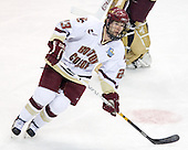 Brian O'Hanley (Boston College - Quincy, MA) takes part in warmups. The Michigan State Spartans defeated the Boston College Eagles 3-1 (EN) to win the national championship in the final game of the 2007 Frozen Four at the Scottrade Center in St. Louis, Missouri on Saturday, April 7, 2007.