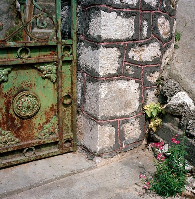 Carved metal door, Stemnitsa, Peloponnese, Greece
