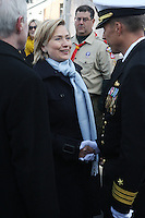 The USS New York Official Active Duty Commission held at Pier 86 in New York Harbor on Nov. 7, 2009