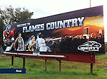 This is one of a series of 12 billboards from the 2011 Flames Football season. 2011 was the first year for Liberty University to use billboard and television advertising on a national level.