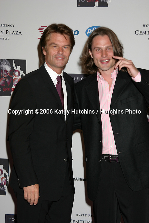 Harry Hamlin and son Dimitri Hamlin  arriving at the.13th Annual Race to Erase MS Benefit.Cetnury Plaza Hotel.Century City, CA.May 12, 2006.©2006 Kathy Hutchins / Hutchins Photo....
