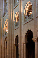 OISE, FRANCE - OCTOBER 26: View of the triforium and arcades between the nave and the ambulatory of the Cathedral Notre-Dame de Senlis on October 26, 2008 in Oise, France. The cathedral was built between 1153 and 1191. (Photo by Manuel Cohen)