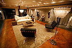 luxurious lounge showroom at night