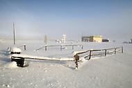 Gunsight Village, Alaska, U.S.A, January 1989. A sudden cold wave struck Alaska resulting to the temperature falling under 50 degrees Centigrade (58 degrees Fahrenheit).