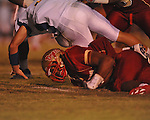 Lafayette High's Keeyon Tyson (36) recorvers a fumble by Oxford High's Parker Adamson (3) at William L. Buford Stadium in Oxford, Miss. on Friday, September 2, 2011. Lafayette won 40-12
