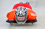 17 December 2010: Jon Montgomery sliding for Canada, finishes in 14th place at the Viessmann FIBT Skeleton World Cup Championships in Lake Placid, New York, USA. Mandatory Credit: Ed Wolfstein Photo