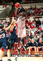 STANFORD, CA - MARCH 9: Sarah Dimson of the Stanford Cardinal during Stanford's 79-72 loss against the Arizona Wildcats on March 9, 2000 at Maples Pavilion in Stanford, California.