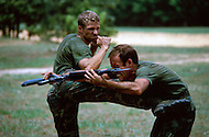 Special Force, April 1982. Close combat training in Fort Bragg, NC.