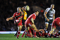 Tomas O'Leary of Munster Rugby box-kicks the ball. European Rugby Champions Cup match, between Leicester Tigers and Munster Rugby on December 20, 2015 at Welford Road in Leicester, England. Photo by: Patrick Khachfe / JMP
