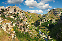 The ancient troglodyte cave dwellings, known as Sassi , in Matera, Southern Italy. A UNESCO World Heritage Site.