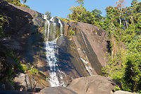 Highest point of Seven Wells waterfall in Langkawi, Malaysia
