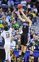 Matt Dickey of the Bulldogs drains a jumper. Pittsburgh defeated UNC-Asheville 74-51 during the NCAA tournament at the Verizon Center in Washington, D.C. on Thursday, March 17, 2011. Alan P. Santos/DC Sports Box