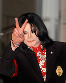 Recording Superstar Michael Jackson arrives at the Embassy of Ethiopia in  Washington, D.C. on April 1, 2004 to receive the Humanitarian Award from The African Ambassadors' Spouses Association for his worldwide humanitarian efforts, particularly in Africa.  His charitable contributions have been in excess of 50 million US dollars worldwide during his lifetime..Credit: Ron Sachs / CNP